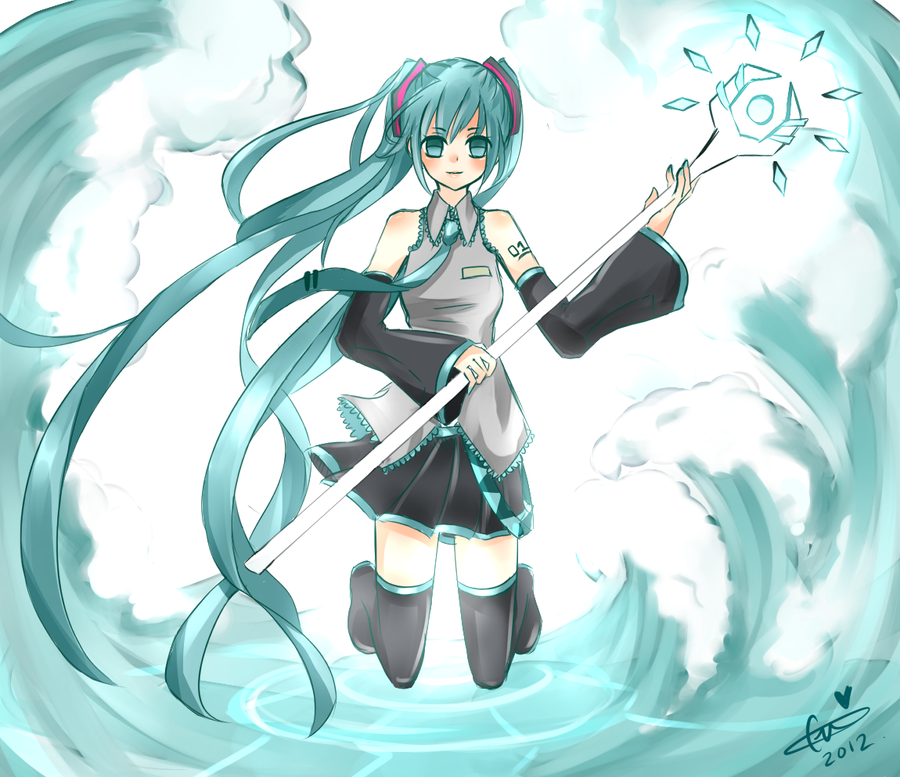 Anime Water Mage Hatsune miku  ice water mageIce Mage Anime