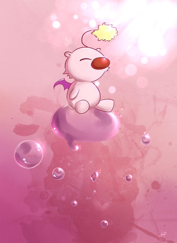 Moogle's Bubbles by Meep-and-Mushrat