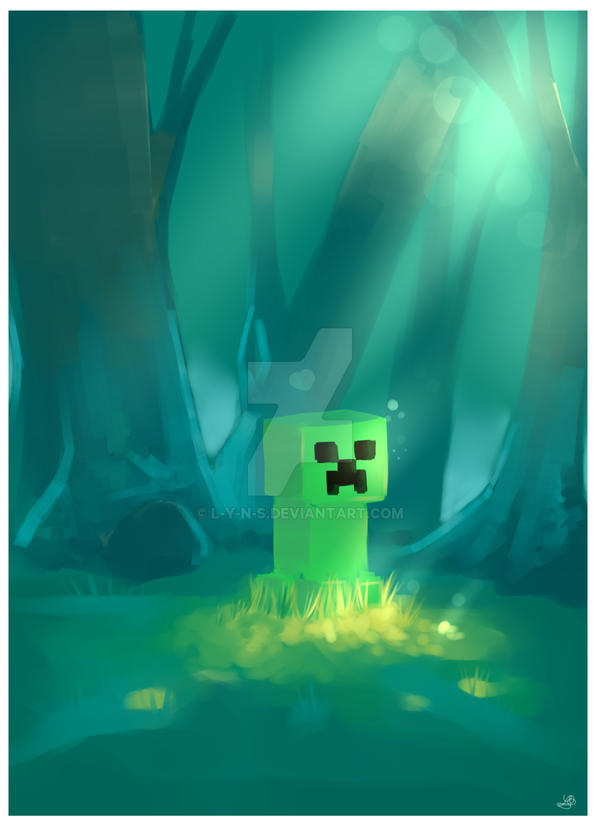 minecraft creeper love me by l y n s on deviantart