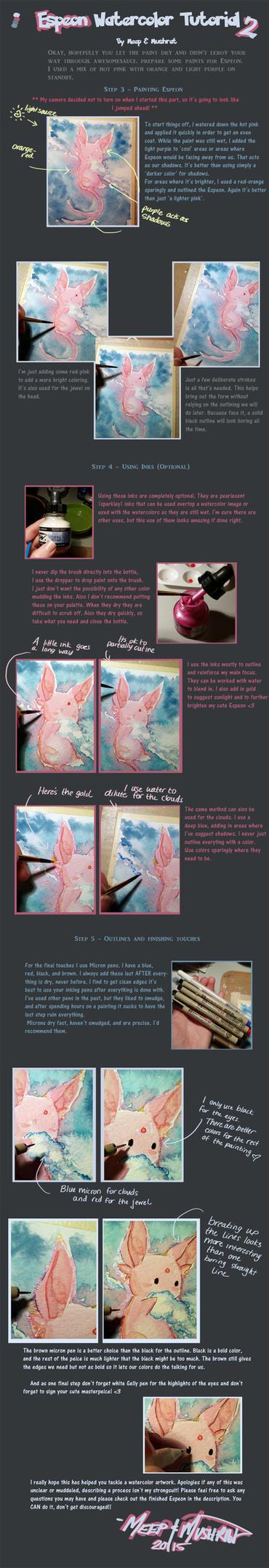 Watercolor Tutorial.Espeon Part 2 by L-Y-N-S
