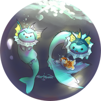 Some Vaporeon Sketches by L-Y-N-S