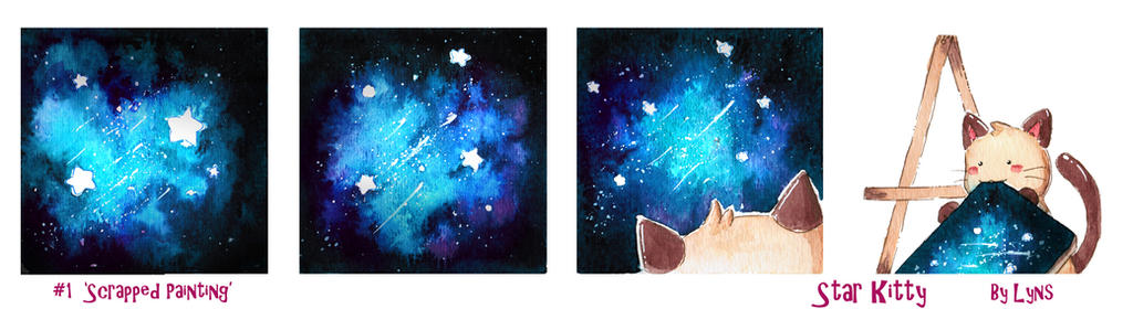 Star Kitty #1 - Scrapped Painting by L-Y-N-S