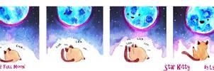 Star Kitty #2 ' Full Moon' by L-Y-N-S