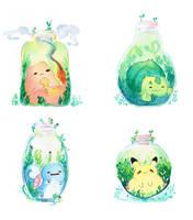 Gen 1 Pokemon Bottles by L-Y-N-S