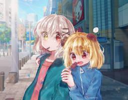Art trade with my friend b