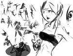 Alchemy girl and poses