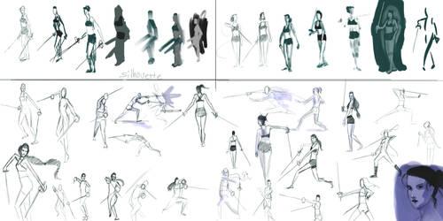 Kxhara: Sword Poses by slyshand