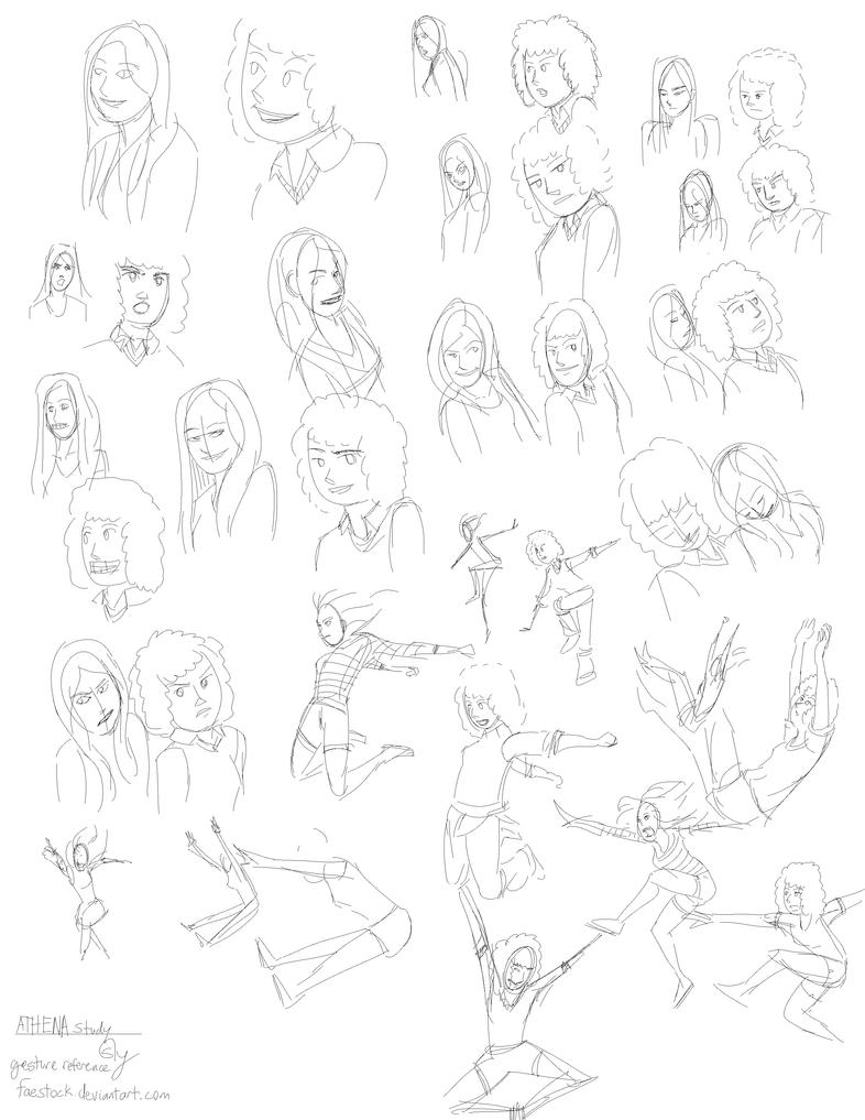 Faestock Gesture Drawings by slyshand