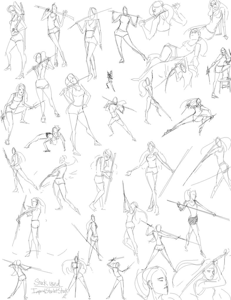 ImperialStarletStock Gestures by slyshand
