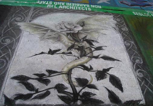 Dragon Rose - pastel chalk II