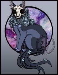 Skull in Full Bloom by HpMp-Studios