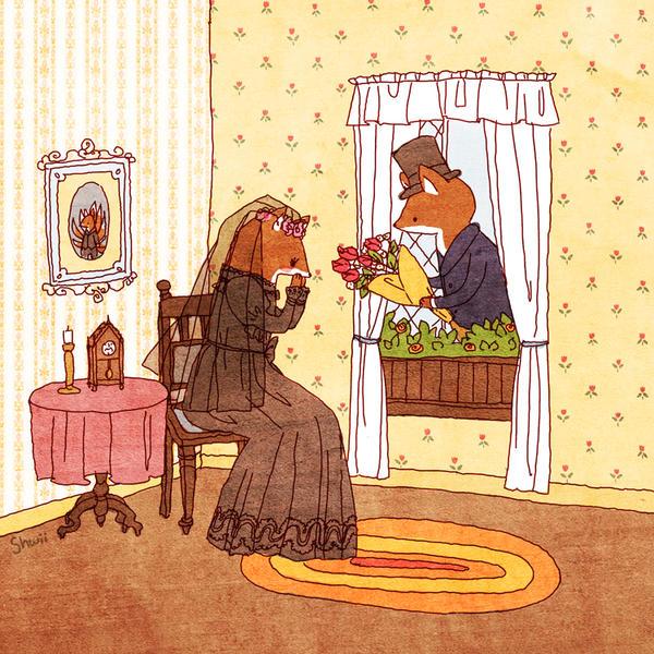 Mrs. Fox by shwippie