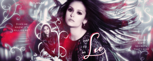Nina Dobrev Sygnature by Lailaa by GraphicsLailaa