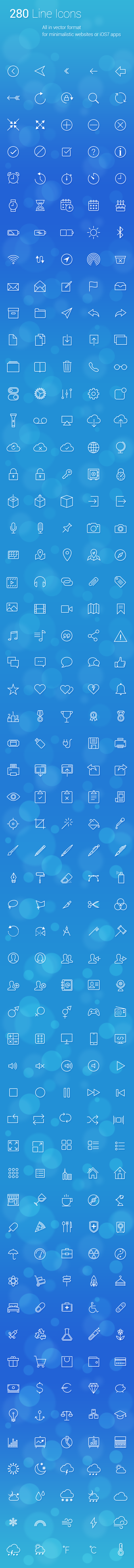 280 Line Icons by vuongthanhchung