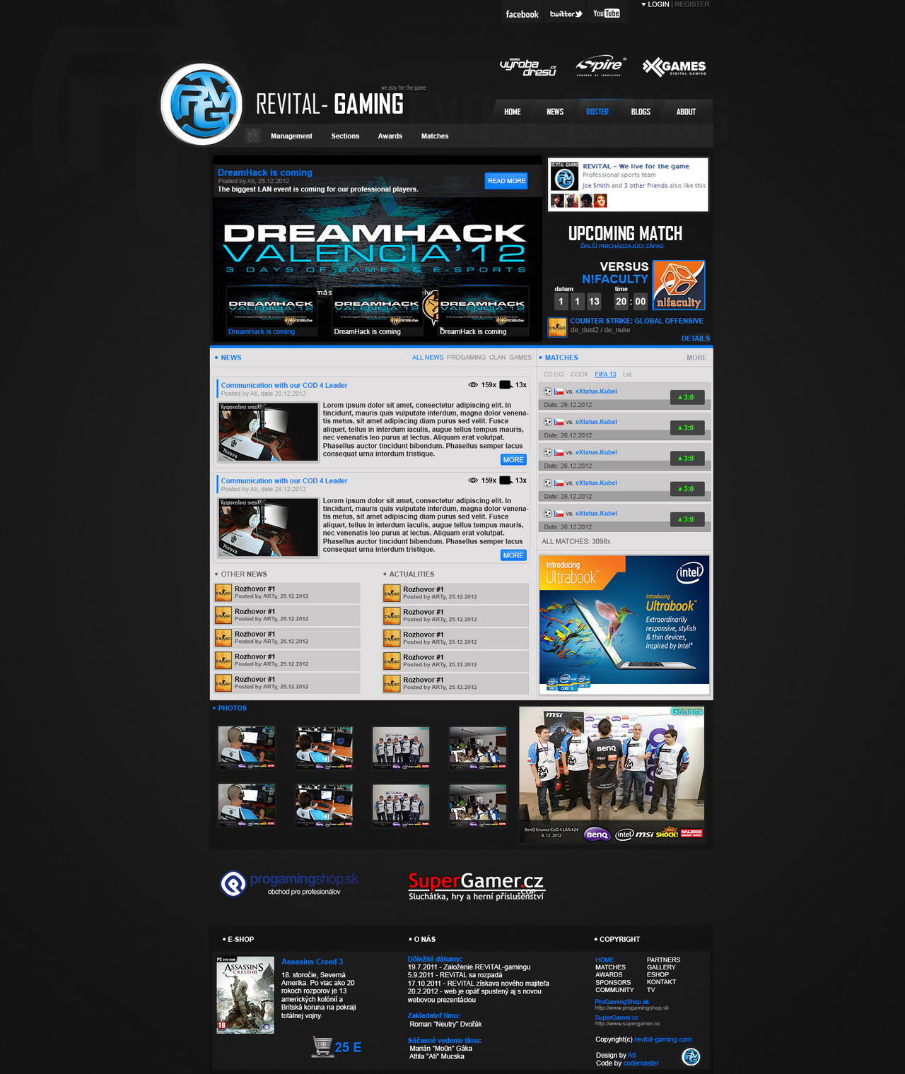Revital-Gaming NEW WEBDESIGN v1 by ati-revital on DeviantArt