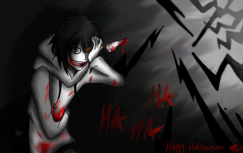 Jeff The Killer  Happy Halloween By Darkdeath by Nila-the-hegehog