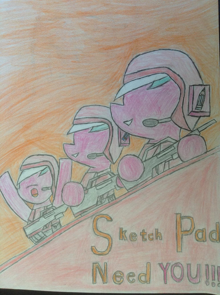 MLP: Sketch Pad's recruiting poster by Paladin360