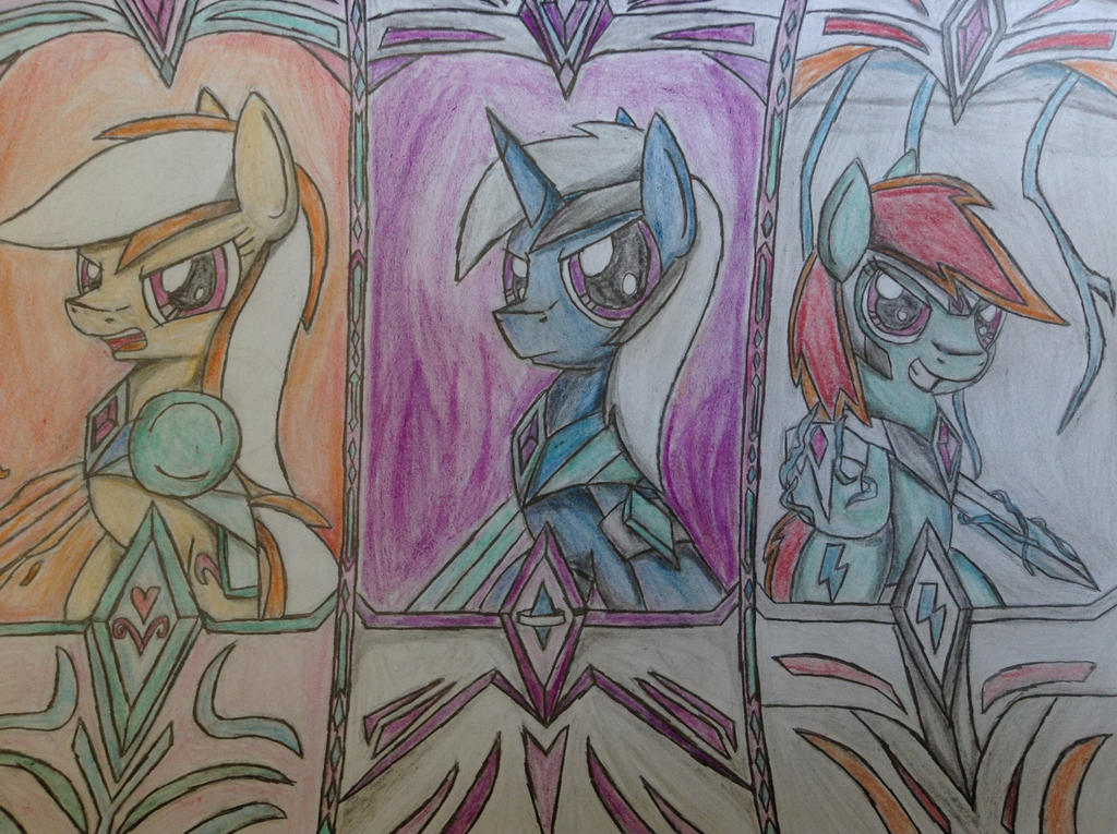 MLP: Sarah, Nova and Lighting Bolts by Paladin360