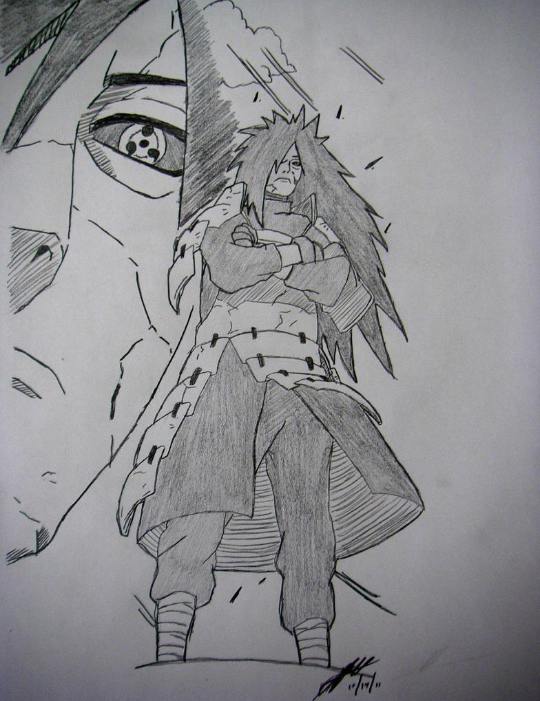 Madara Drawing In Pencil Madara Uchiha drawing by