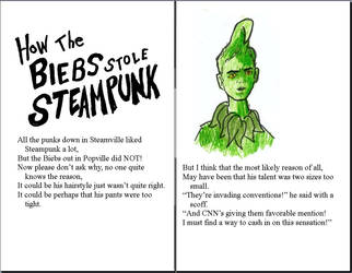 How the Biebs Stole Steampunk - Page One by BusterVainamoinen