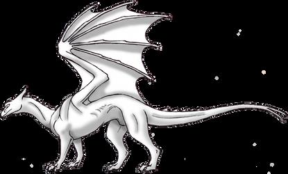 Pernese Dragon Lineart by Sporelett