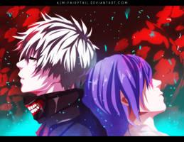 Kaneki and Touka by AJM-FairyTail