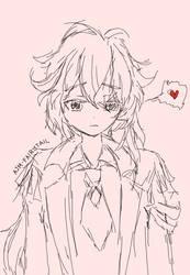 Diluc sketch by AJM-FairyTail