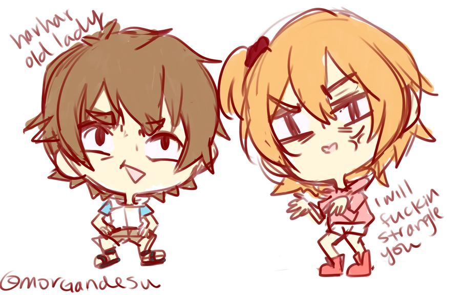 Hibiya And Kisaragi Basically by houtani