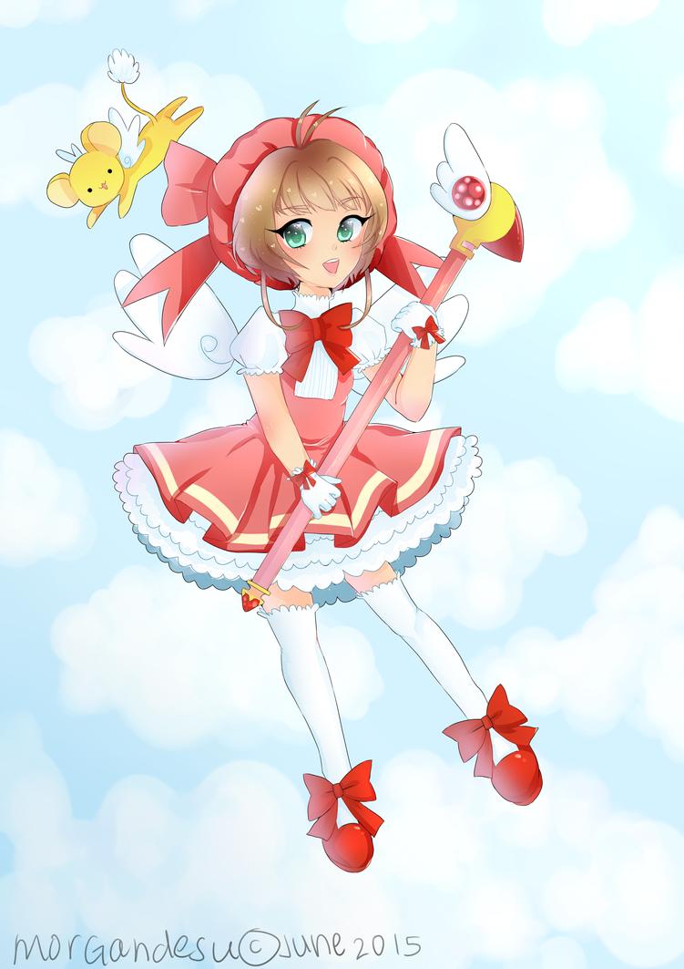 Ccs- Week #1 Sakura Redwhite Dress by houtani