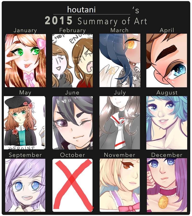2015 Art Summary + thank you!!! by houtani