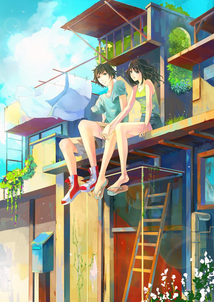 Summer love by aiki-ame