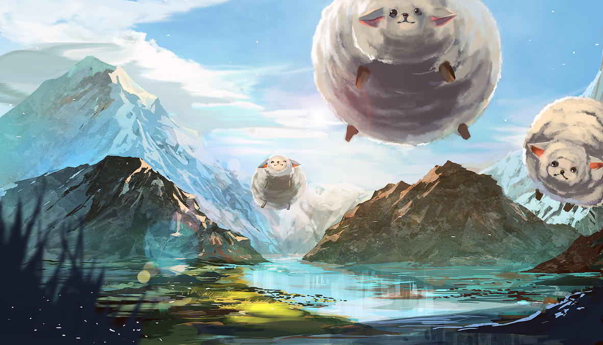 Flying sheep by aiki-ame