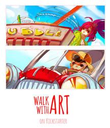 WALK WITH ART on Kickstarter!!