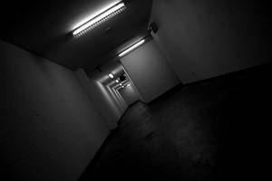 Down the hall to the right... by Genuine-Atramentous