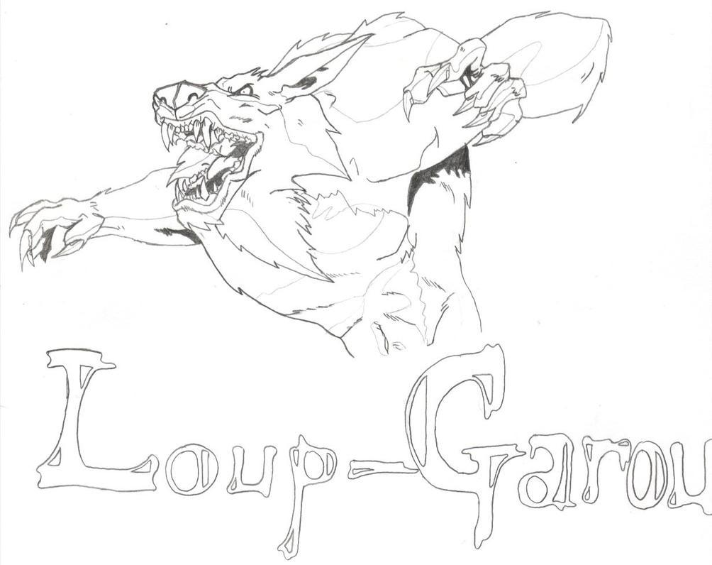 Loup garou by demogia on DeviantArt