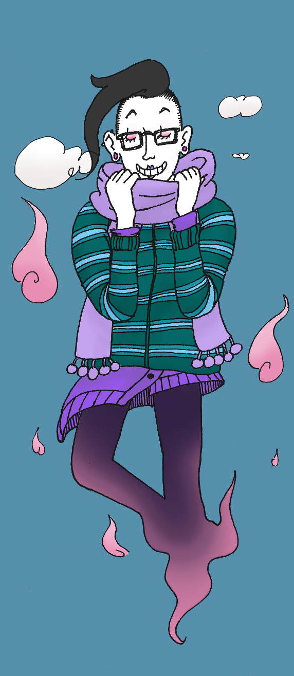 Warm Ghost Hipster by fuzzyrobot