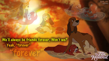 Friend Forever Tod Copper Fox and Hound by KovuOat