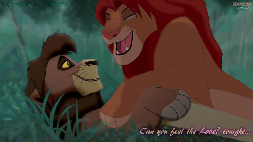 Can you feel the Love ? tonight.. Simba and Kovu by ...