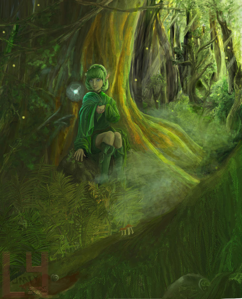 Zelda Wallpapers: Saria Re-drawn By LUMIY4 On DeviantArt