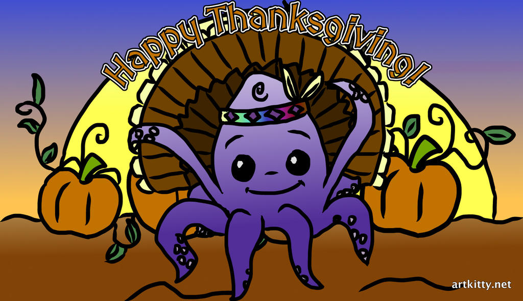 Lil Inky Happy Thanksgiving by lorikitty