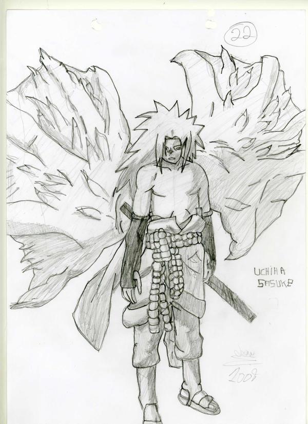 Uchiha Sasuke Curse Seal Form by FielLoui1995 on deviantART