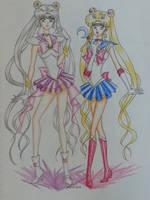 Sailor Moon : Moon and Selene by curdledsauce
