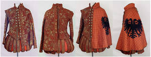 Red + Gold Renaissance Doublet and Cape