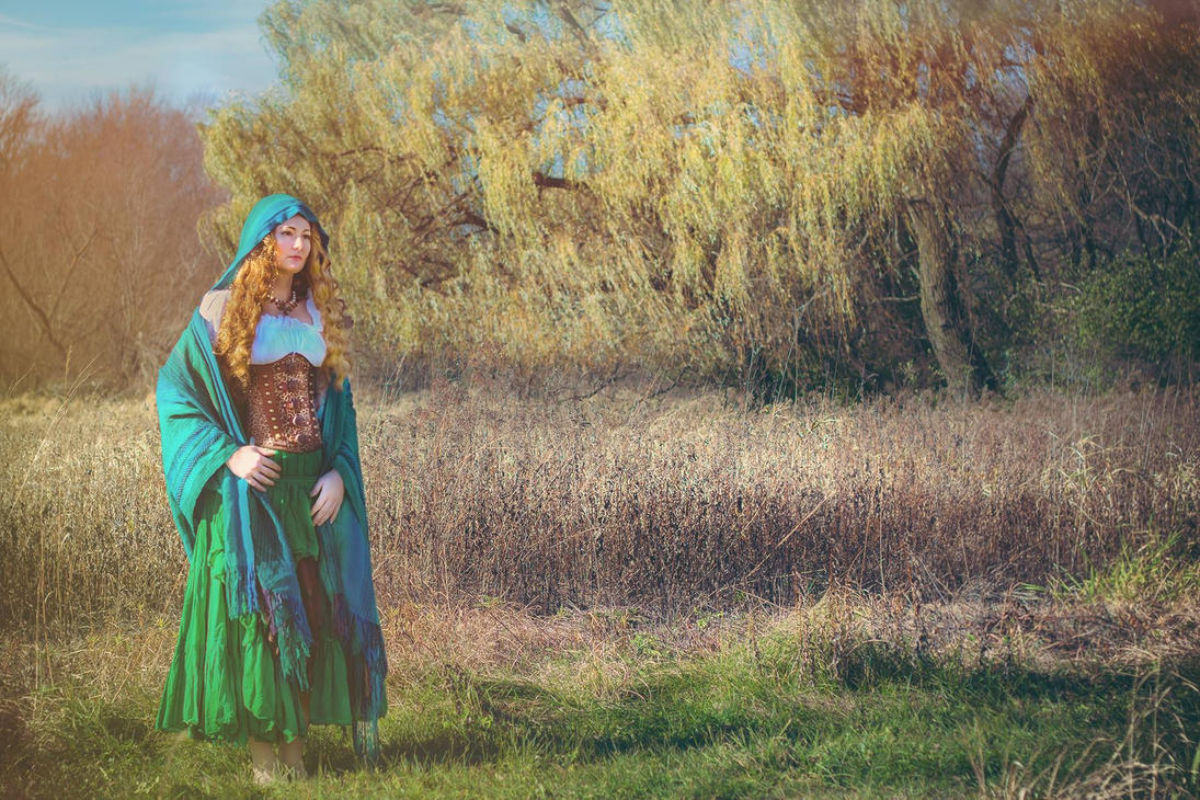 She Waits by the Willow by paedess