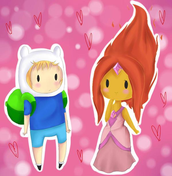 chibi Finn and Flame Princess by zeldaprincessgirl100 on ...