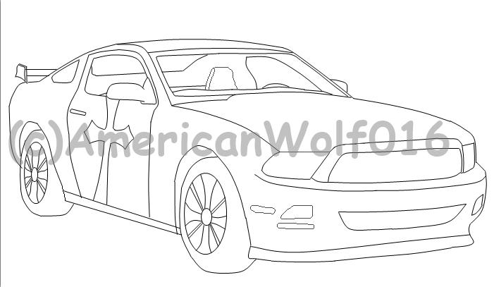 WIP of Custom Mustang by AmericanWolf016