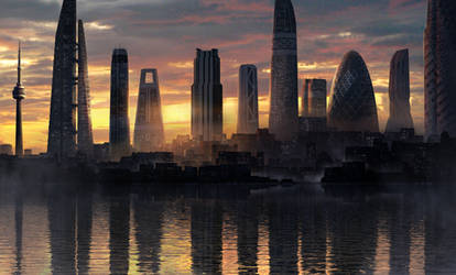 Futuristic City by EternalEyes123