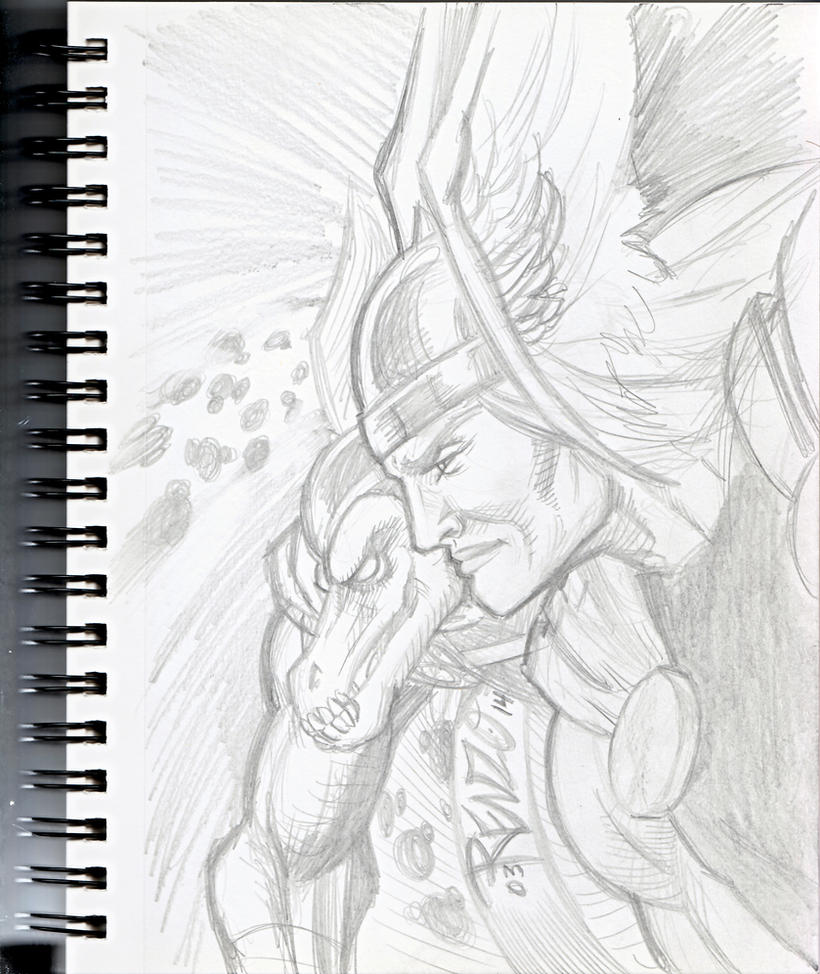Thor and Beta ray Scetch by Renzo1991