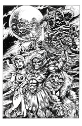 Skelator_Snake Mountain Inked by Renzo1991