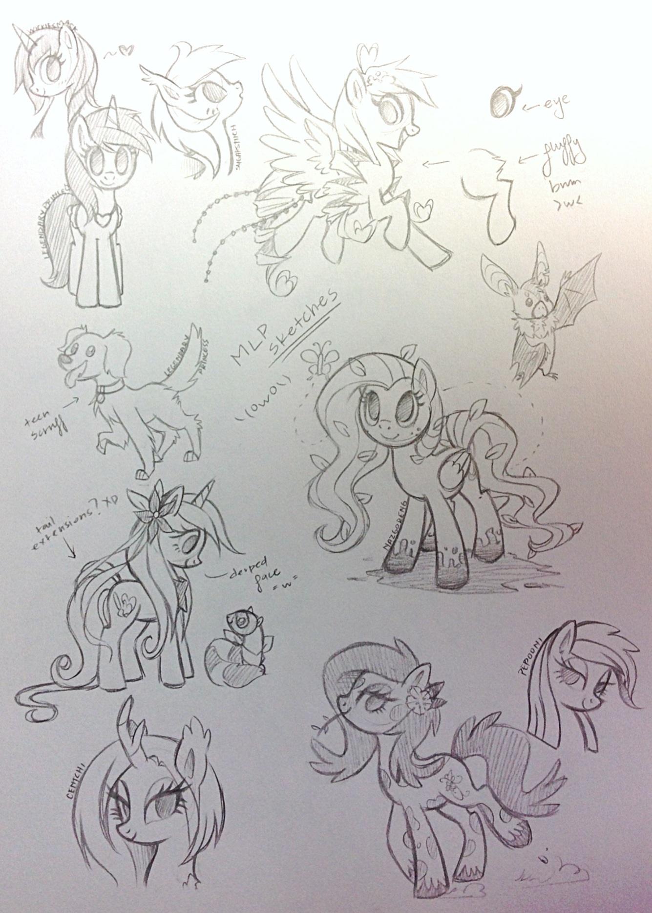 Pony Sketchdump by Jojuki-chan